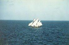 Réapparition de l'Atlantide dans ATLANTES bateau-blanc
