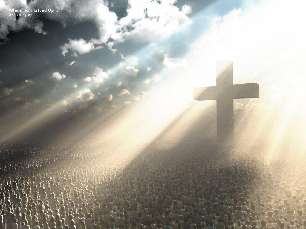 en croix
